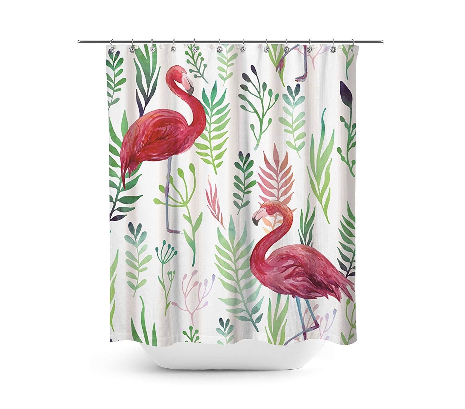 Buy Tropical Pink Flamingo Novelty Fabric Shower Curtain