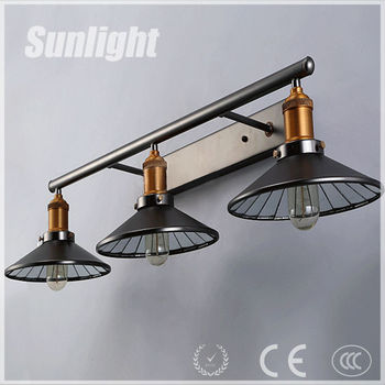 Modern Iron Industrial Retro Medieval Style Glass Shade Triple ...