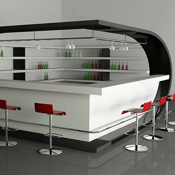 Prefab Commercial Wine Bar Counter Top