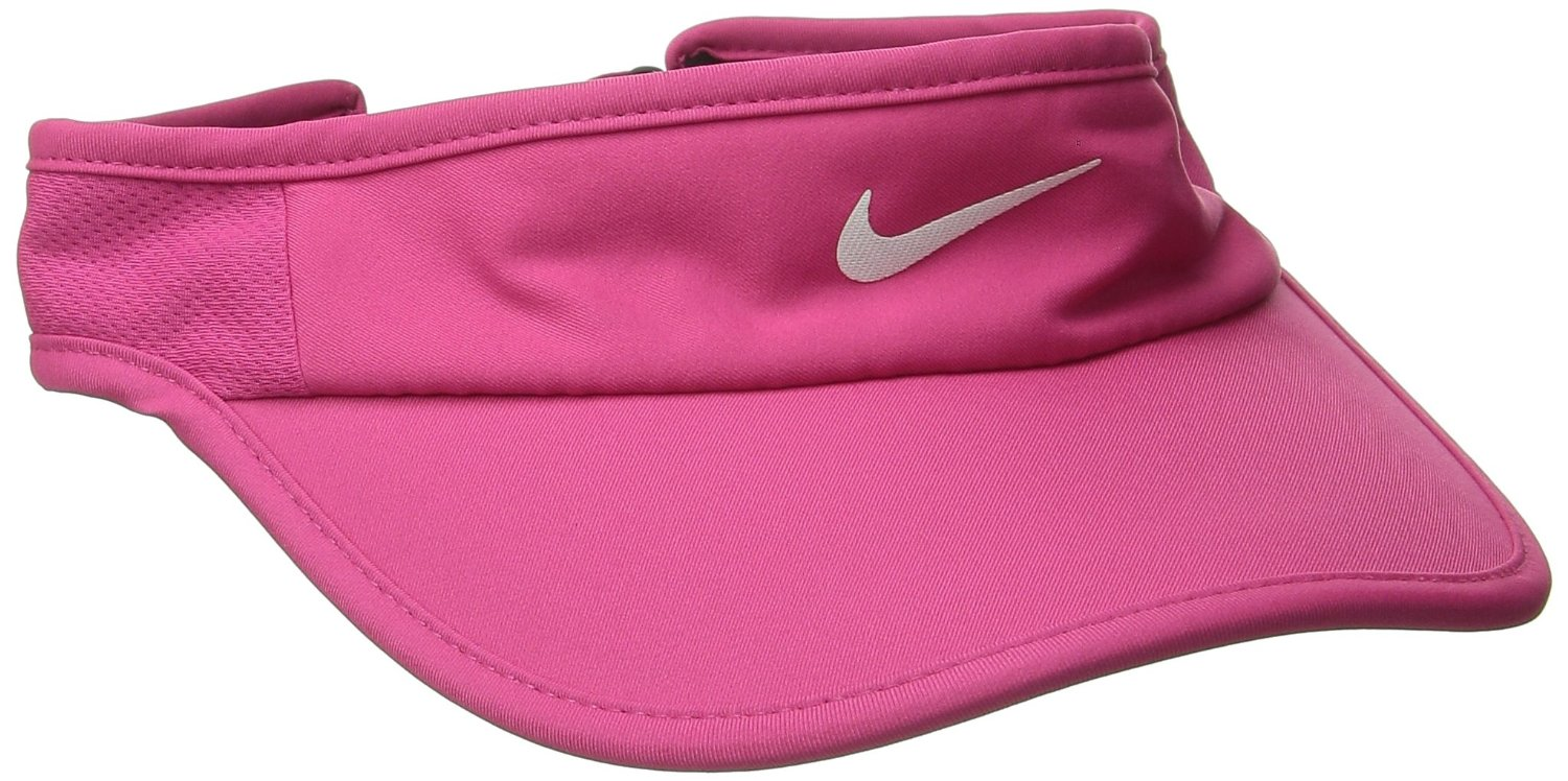 Get Quotations · Nike Womens Featherlight Visor Vivid Pink/Black/White