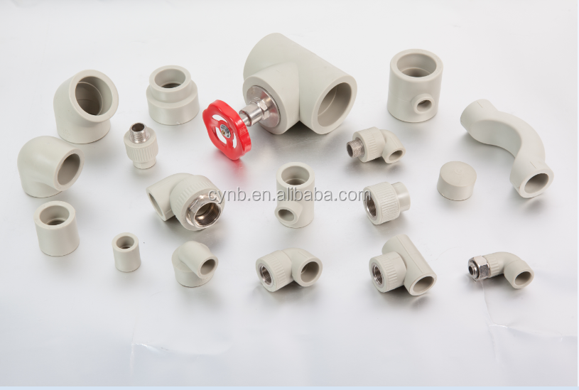 Grey plastic ppr fittings