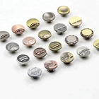Manufacturer Custom Engrave Name Logo Antique Copper color Metal Brass Denim Jeans Rivet Buttons