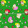 100%Cotton Pleasant Green Love Heart Printed Flannel Fabric