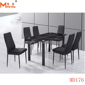 Modern Metal Glass Dining Tables And Chairs Buy Cheap Dining Table And 6 Ch