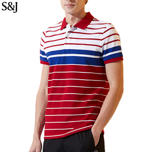 Wholesale Custom Patch work Color Design Polo Shirt Men T shirt