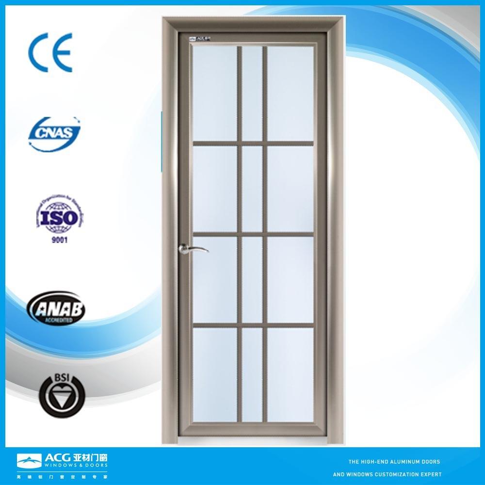 Bathroom Doors Waterproof: Bathroom Waterproof Aluminum Glass Door, View Glass Door