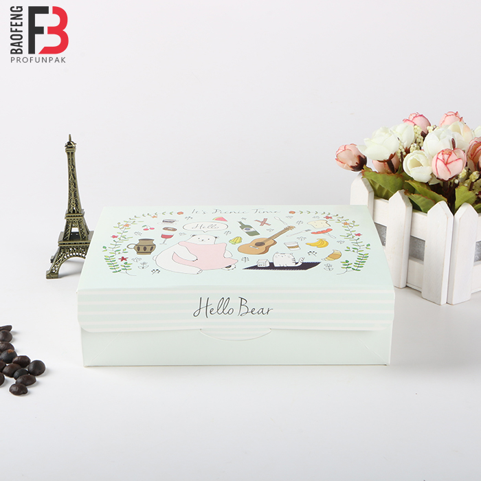 #3 white kraft paper sushi box food grade paper box