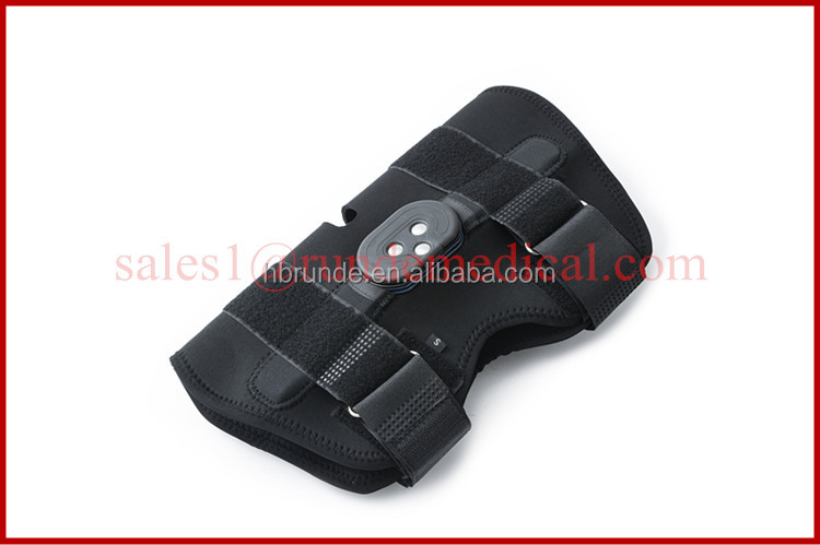 Custom Fit Hinged Knee Brace, fully adjustable for comfort and fit, with flexion hinge system