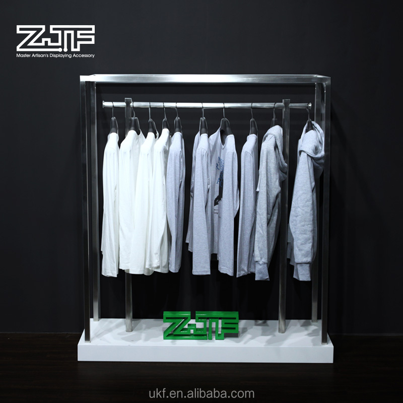 Modern cloth store wood display unit t-shirt children clothes display stand for shop