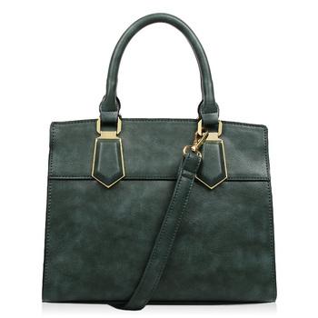 Leather Trim Tote Bag Evergreen Lime Green Bandung Indonesia Handbag