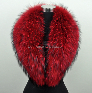 Colored Detachable Fur Collars ,Fox Fur Collars with Finland Fox Fur