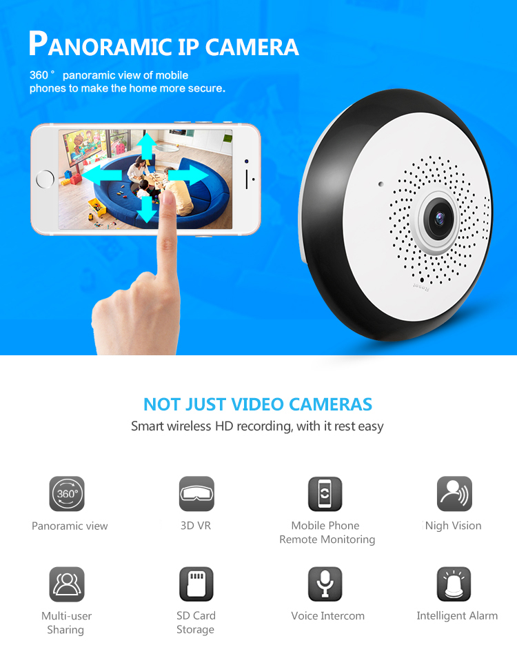 Best Selling 360 Camera VR Wifi Panoramic Camera