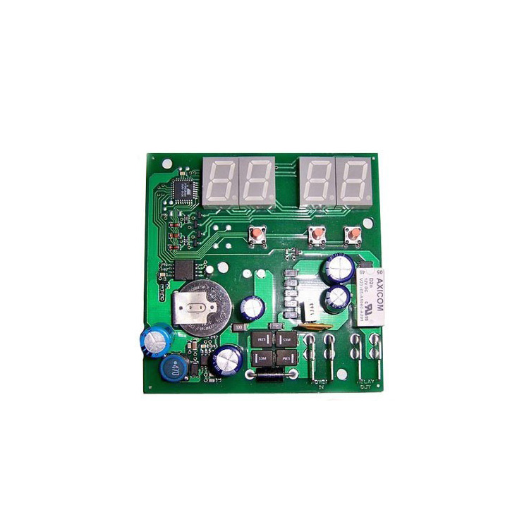OEM PCB and PCBA electronic 2 layer green pcb with white silkscreen