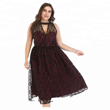 fashion 2018 women clothes plus size club dress sexy lace lady dress
