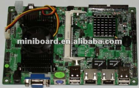 "4 "" Motherboard based ATOM N270 with 2 LAN and CF Card"