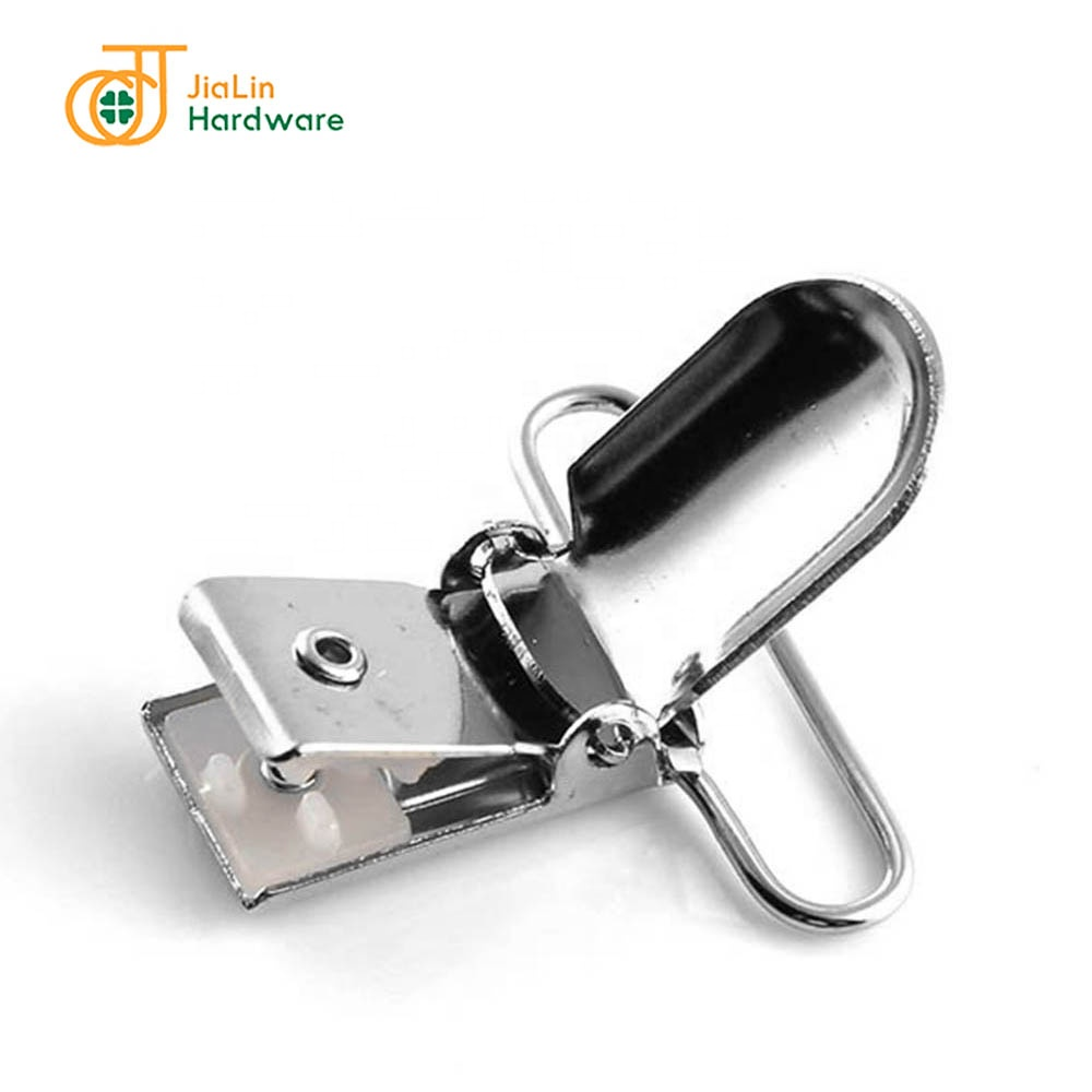 Customized Logo and Color Duckbill Metal Clips Braces Clips for Pants