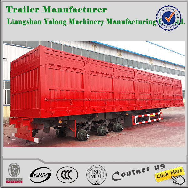 Hot selling 3axles 80T 20ft/40ft steel van truck vehicle