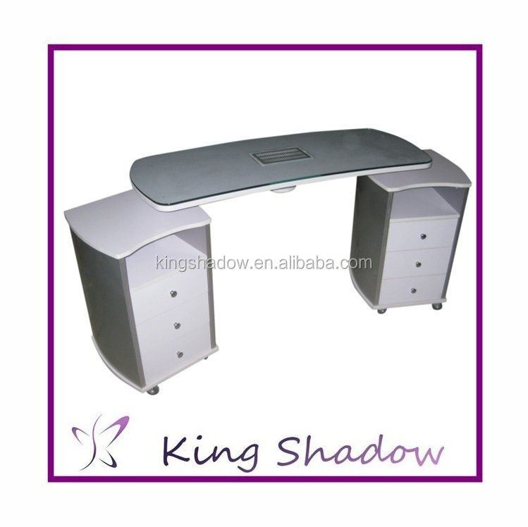 Professinal nail table used beauty salon furniture nail table with ...
