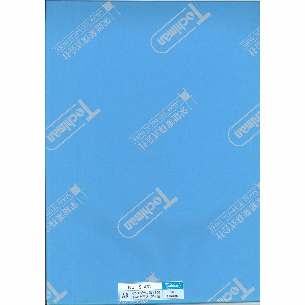 Sakaeshigyo Tochiman graph paper 1 mm grid A3 25 sheets eye color Kent paper 186 g S-A31