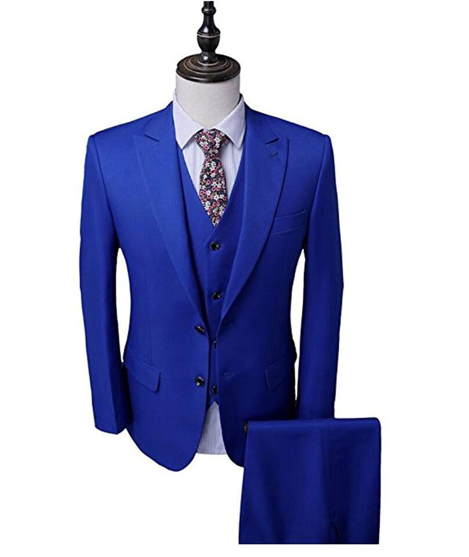 a8505340ebc Get Quotations · Botong Royal Blue Groomsmen Suits 3 Pieces Men Suits  Wedding Suits for Men