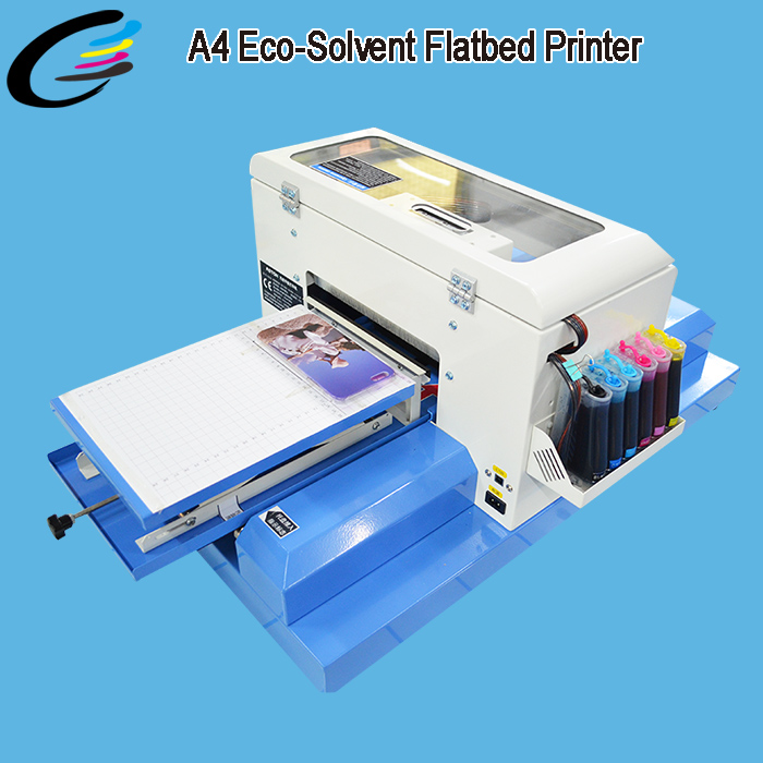 Economic A4 Eco Solvent PVC Plastic ID Card Printer for pvc card without coating printing