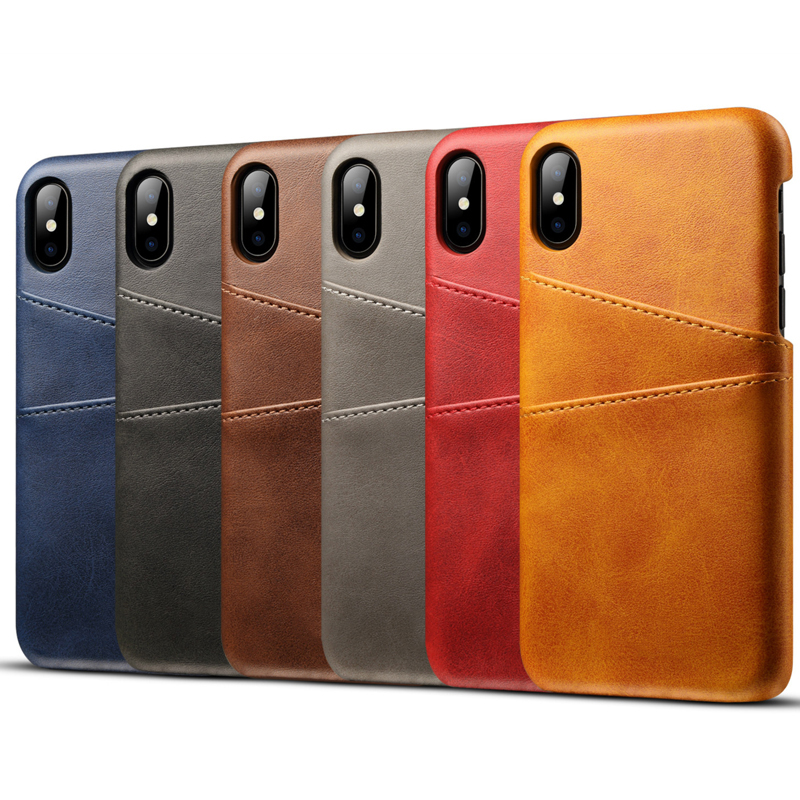 high quality PU leather cell phone case for iPhone X case phone cover