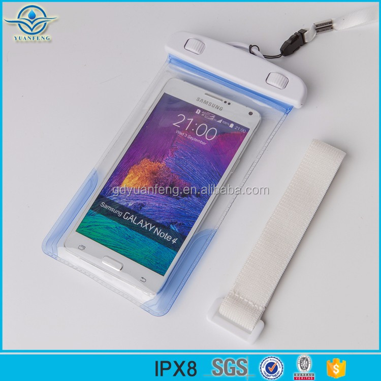 2017 waterproof phone bag high quality TPU/PVC 500D