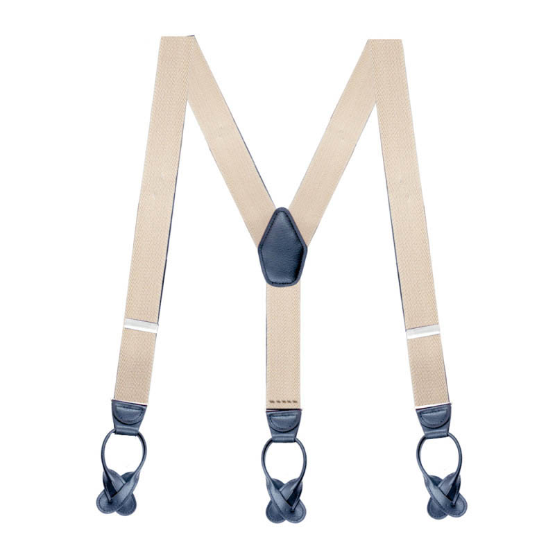 2018 Best Selling Fine Design Elastic Genuine Leather Custom Suspenders For Men