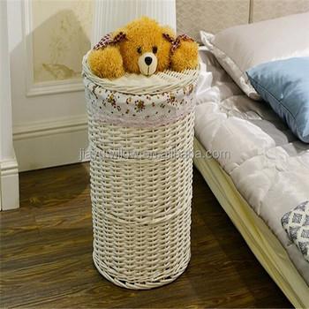 Living Room Wicker Storage Basket Laundry Baskets Decoration Decorative For
