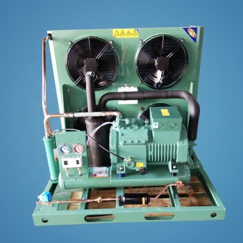 Blast freezer Bitzer semi-hermetic screw 2FES-2 two stage compressor refrigeration equipment system condensing unit