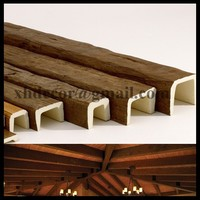 #KU-0003S polyurethane U shape lowes light weight for interior and exterior ceiling decoration faux wood beams