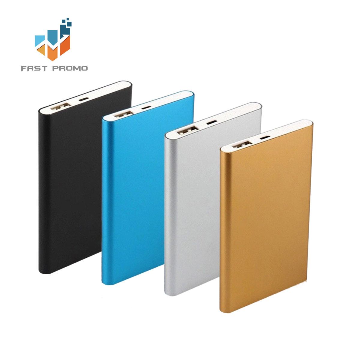 Grosir Promosi Ultrathin Tinggi Kapasitas Portable Square Ponsel Charger Power Bank