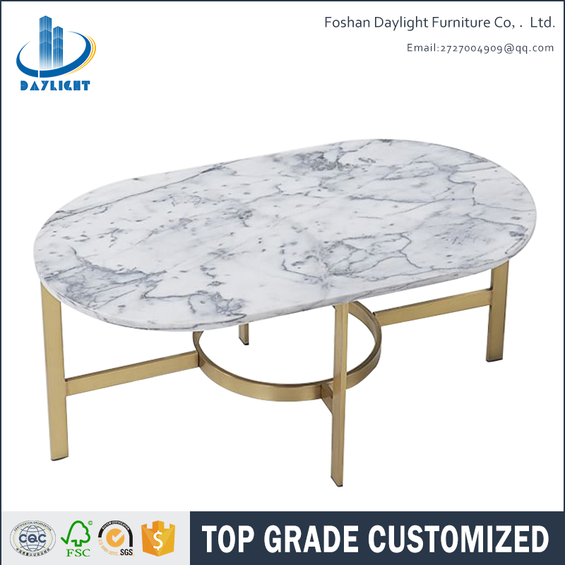Carrara Solid Marble Top Oval Metal Coffee With Antique Br Base Table Product On