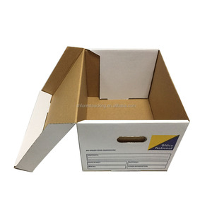 Strength corrugated foldable paper archive Bankers Box
