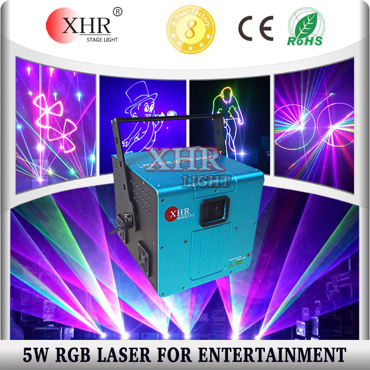 pc/ilda Computer control animation rgb 5w laser lights for disco