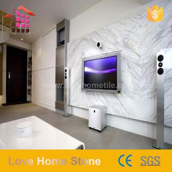 New Design 300x600 White Marble Living Room Tv Background Wall Tile