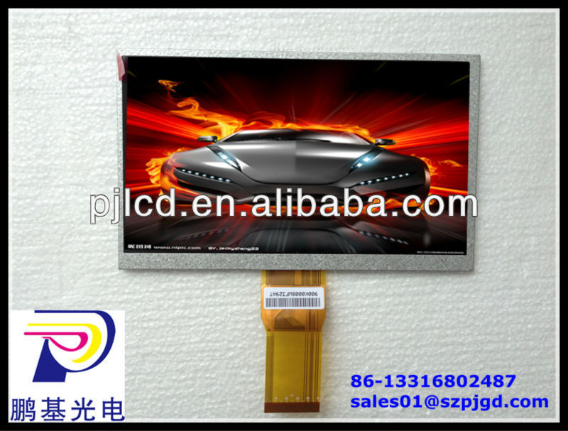 Factory offer directly-7.0 inch lcd panel custom with 800*480 pixels