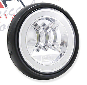 MINI Cooper LED Rally Driving Lights w/ Halo Style Daytime Running Lamp