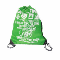 polyester non woven nylon canvas custom Drawstring Shoe Bags for Travel Carrying drawstring bags for teens