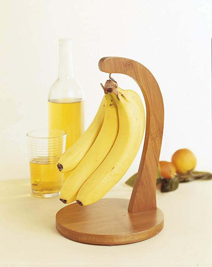 Wholesale bamboo wood banana hanger
