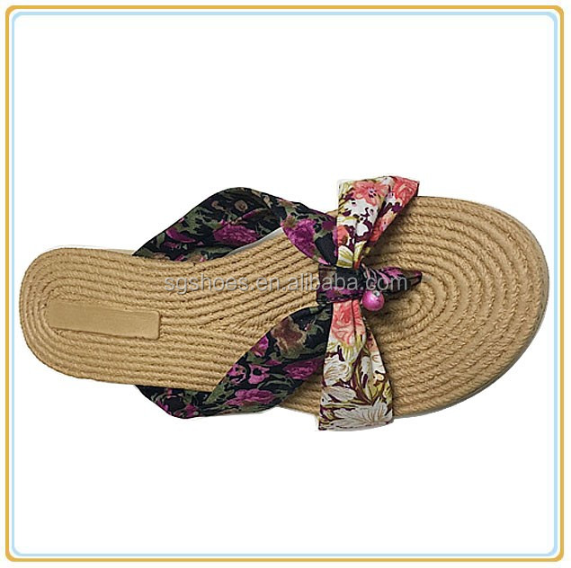 2016 fabric cotton flip flop women new fashion slipper
