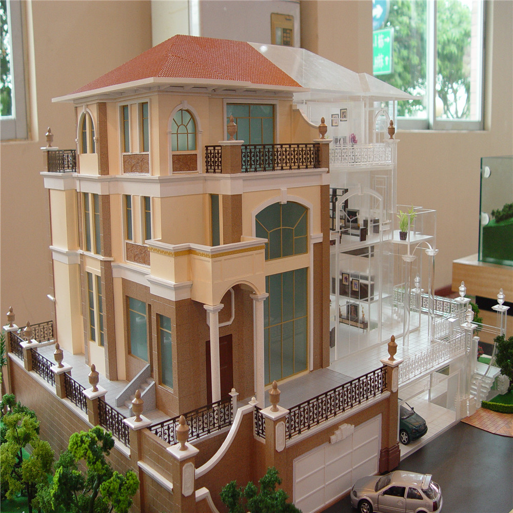 Miniature House Model With Led Light 1 25 Scale Villa