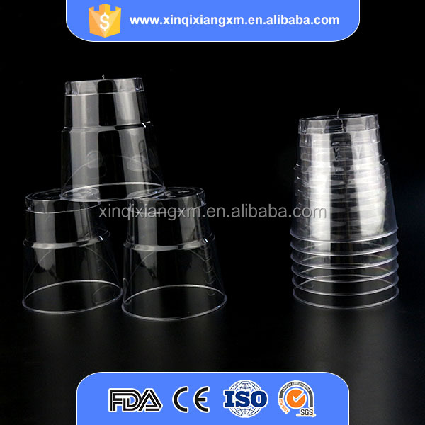 Wholesale 6 oz clear disposable round plastic cup