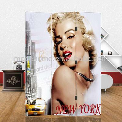 Marilyn Monroe Cheap Room Divider Screen Canvas Screen Folding Screen - Marilyn Monroe Cheap Room Divider Screen Canvas Screen Folding
