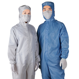 anti static garment 99% polyester white coveralls