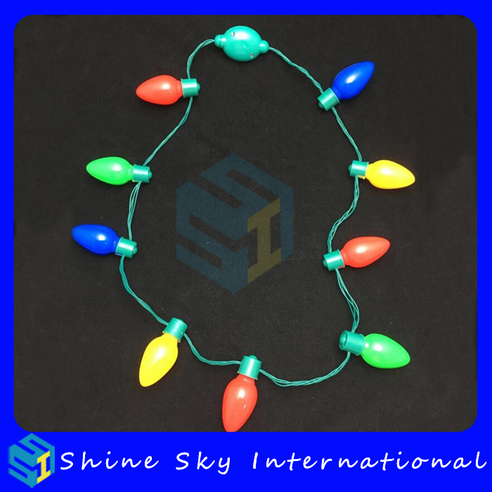 Festival/Party Hot Selling Led Bulb Necklace Long Led Necklace With Colorful Bulbs For Mardi Gras