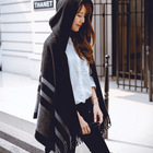 2015 Winter Ladies Hot Selling Wool Poncho Scarf Shawl With Hat