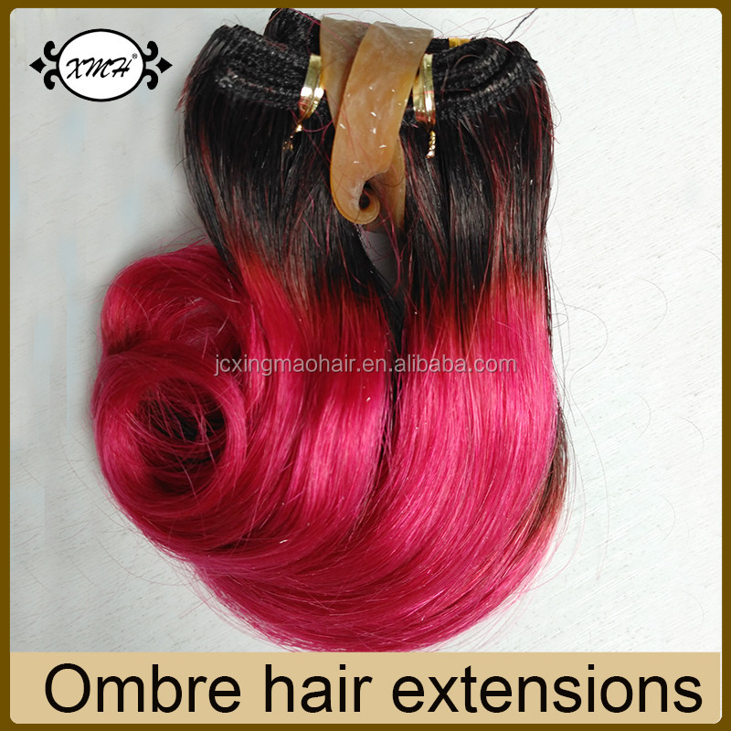 High Quality Ombre Hair Extensions T Color 1b27 30 Red Blue Purple Grey Hair Weave Short Hairstyles For Black Women Buy Short Hairstyles For Black
