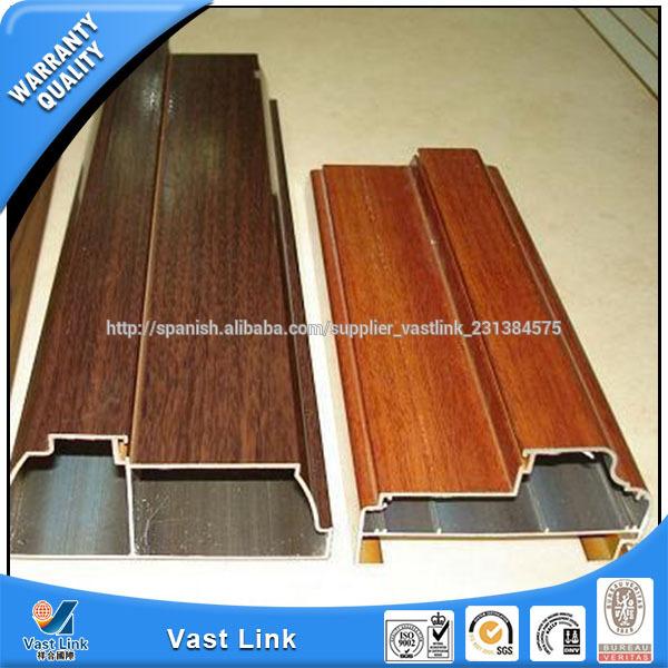 Madera de color perfil de aluminio de revestimiento for Colores de perfiles de aluminio