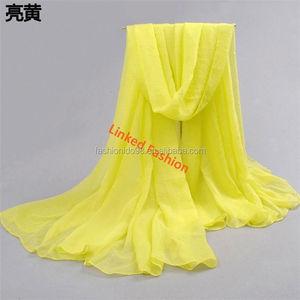 427e3477fc658 hot Spring summer plain solid printed pareo chiffon scarf SARONG Beach Cover -up Wrap Skirt